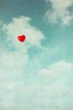 Ballon dans le ciel. rétro style de vintage Image libre de droits
