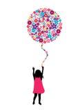 Ballon de fleur Photos stock