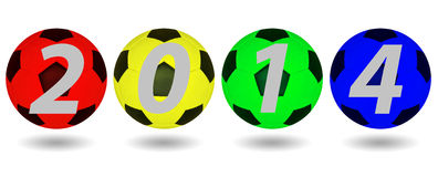 Ballon de football 2014. image stock