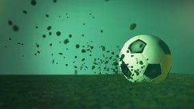 Ballon de football illustration stock