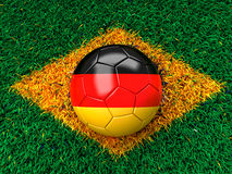 Ballon de football allemand Photographie stock