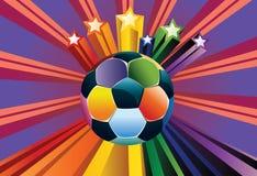 Ballon de football avec des étoiles Images libres de droits