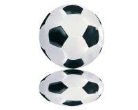 Ballon de football avec la réflexion Image stock