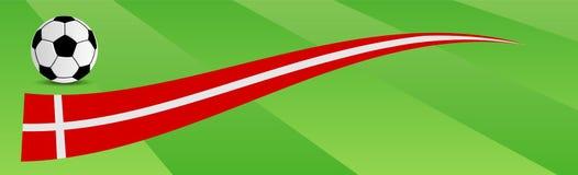 Ballon de football avec le drapeau du Danemark Images stock