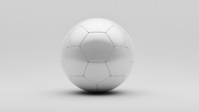 Ballon de football blanc Photos libres de droits