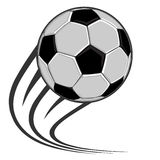 Ballon de football classique photographie stock