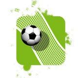 Ballon de football courant d'illustration sur le fond abstrait illustration stock
