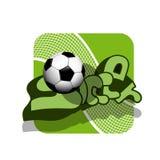 Ballon de football courant et grille d'illustration illustration libre de droits