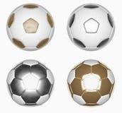Ballon de football d'isolat Image stock