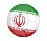 Ballon de football d'isolement, ou football, avec le drapeau de pays de l'Iran illustration de vecteur
