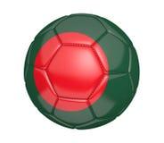 Ballon de football d'isolement, ou football, avec le drapeau de pays du Bangladesh Image stock