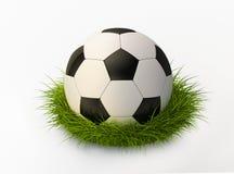 Ballon de football dans l'herbe illustration de vecteur