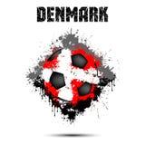 Ballon de football dans la couleur du Danemark illustration de vecteur