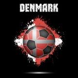 Ballon de football dans la couleur du Danemark illustration stock