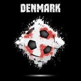 Ballon de football dans la couleur du Danemark illustration libre de droits