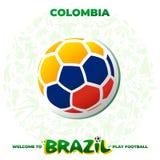 Ballon de football dans les couleurs du drapeau national illustration de vecteur