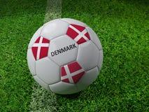 Ballon de football du Danemark Photographie stock libre de droits