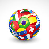 Ballon de football du football Photo libre de droits