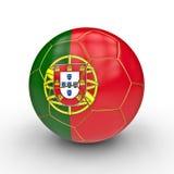 Ballon de football du Portugal Photographie stock