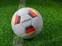 Ballon de football de l'Allemagne Image libre de droits