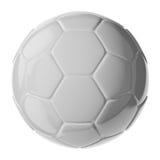 Ballon de football sur le blanc Image libre de droits