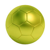 Ballon de football vert d'isolement sur le fond blanc Photo stock