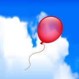 Ballon in de Hemel Royalty-vrije Stock Afbeeldingen
