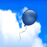 Ballon in de Hemel Stock Foto