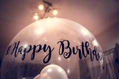 Ballon de joyeux anniversaire avec l'autocollant Image libre de droits