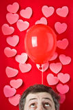 Ballon de l'amour Image stock