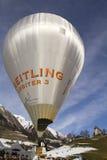 Ballon de navette spatiale de Breitling - Château-d'Oex 2010 Photos libres de droits
