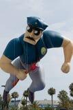 Ballon de policier à l'escroquerie comique Photo stock
