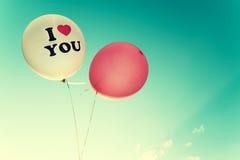 Ballon de vintage - symbole d'amour dans le Saint Valentin Photos stock