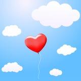 Ballon in de vorm van een hart Royalty-vrije Stock Afbeelding