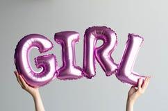 Ballon in de vorm van het woordmeisje royalty-vrije stock afbeelding