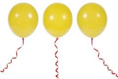 Ballon die op witte achtergrond wordt geïsoleerda Royalty-vrije Stock Foto's