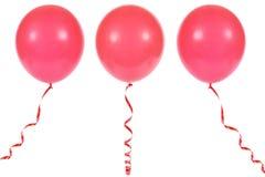 Ballon die op witte achtergrond wordt geïsoleerdd Royalty-vrije Stock Afbeeldingen