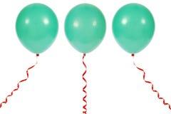 Ballon die op witte achtergrond wordt geïsoleerdd Stock Afbeelding