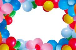 Ballon die op witte achtergrond wordt geïsoleerdj Royalty-vrije Stock Afbeeldingen