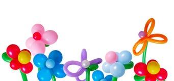 Ballon die op witte achtergrond wordt geïsoleerdr Royalty-vrije Stock Fotografie