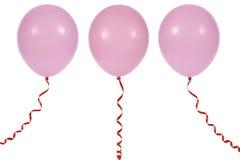 Ballon die op witte achtergrond wordt geïsoleerdt Royalty-vrije Stock Afbeeldingen