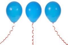 Ballon die op witte achtergrond wordt geïsoleerdl Stock Foto
