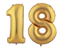 Ballon dix-huit d'or Image stock