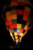 Ballon do ar quente na noite Imagem de Stock