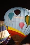 Ballon do ar quente na noite Foto de Stock