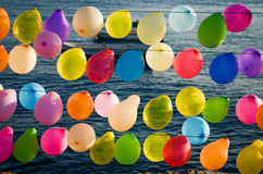 Ballon. Dreaming is another way of seeing the beautiful colors of life Stock Image