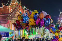 Ballon in einem Tempelfestivalkarneval Lizenzfreie Stockfotografie