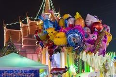 Ballon in einem Tempelfestivalkarneval Lizenzfreies Stockfoto