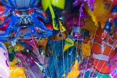 Ballon in einem Tempelfestivalkarneval Lizenzfreie Stockbilder
