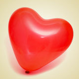 Ballon en forme de coeur Photographie stock libre de droits
